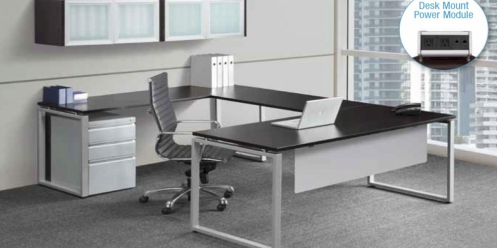 Modern U Shape Desk With Wall Mounted Overhead Multipurpose New Furniture Private Offices Workplaces